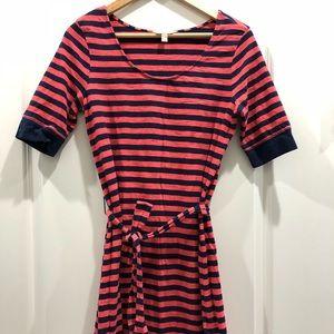 Women's Banana Republic Stripped Coral/Navy Dress